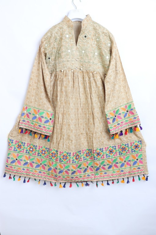 Pathani frock Embroidered Linen stitched for women 1400-2