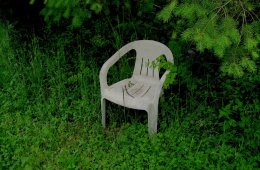 distant reader home power album art overgrown chair