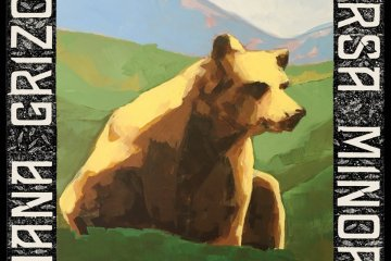 nana grizol ursa minor album art painting of bear