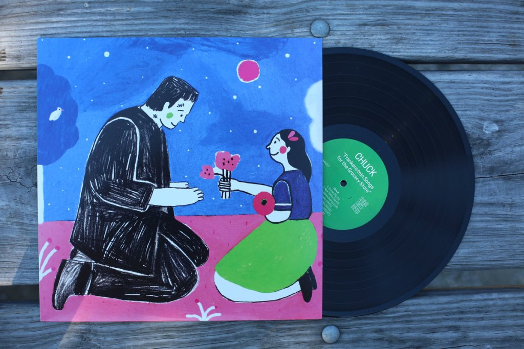 photo of CHUCK Frankenstein Songs for the Grocery Store vinyl record