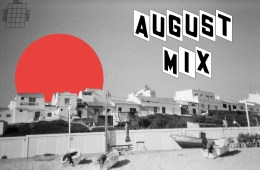 august mix cover beach scene
