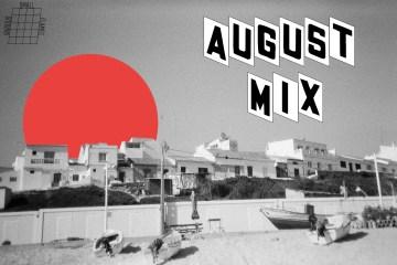 august mix cover beach scene