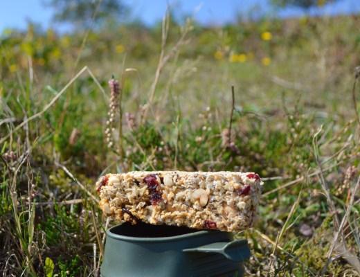 Hjemmelavet muslibar morgenmad vandretur