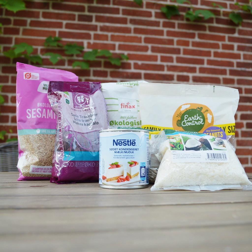 Ingredienser til hjemmelavet muslibar
