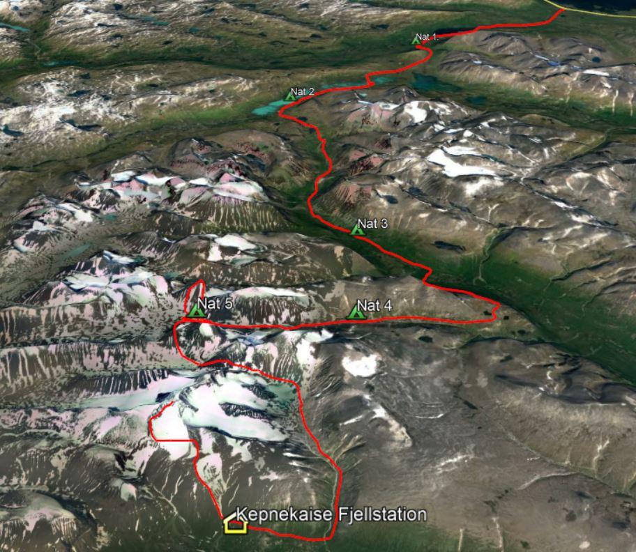 Vandrerute Lapland Abisko