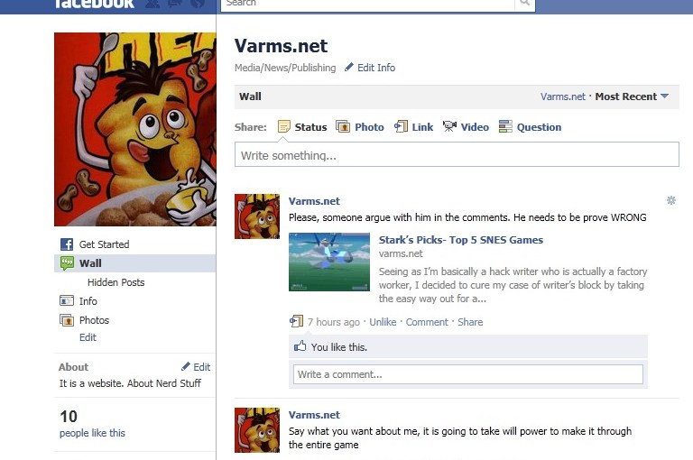 Varms On Facebook