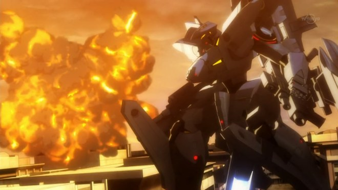 And now for what we all came here to see, big robots and explosions.