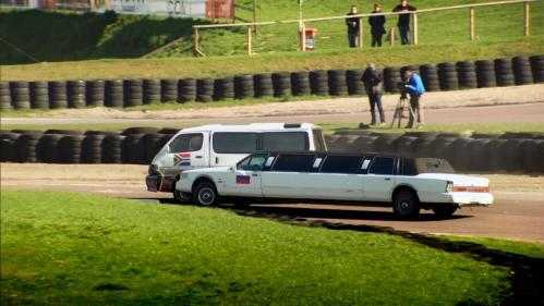 It does not end well for the limo