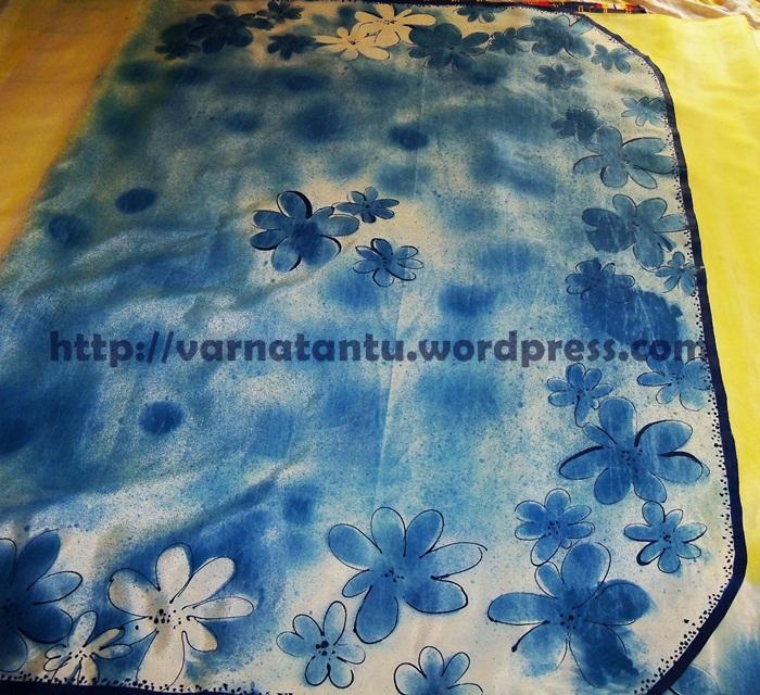 Hand Painted Designer Sari (5/6)