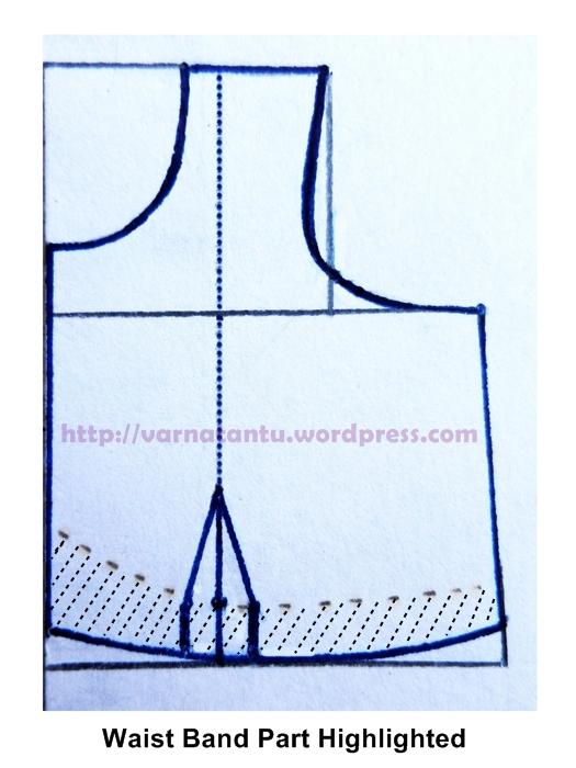 Making Basic Pattern for Sari Blouse (2/4)