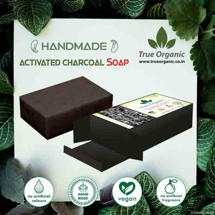 True Organic Activated Charcoal Soap