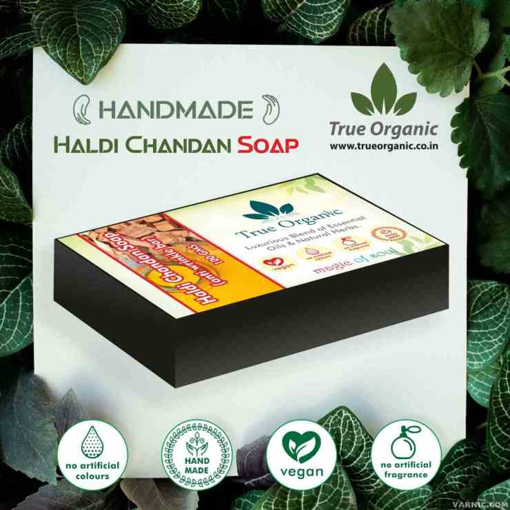 True Organic Haldi Chandan Soap