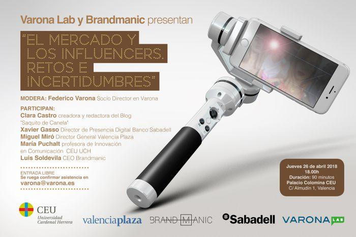 """VARONA LAB Y BRANDMANIC ORGANIZAN LA JORNADA """"EL MERCADO Y LOS INFLUENCERS"""""""