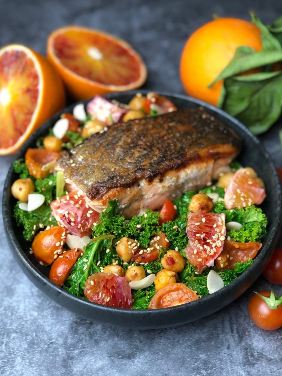 Salmon with Blood Orange Salad
