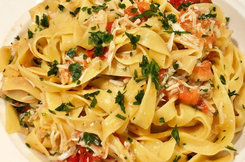 Crab and Bottarga Pasta