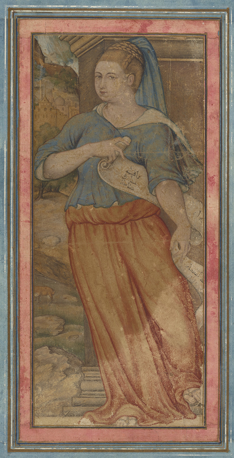 A Muse Holding a Scroll