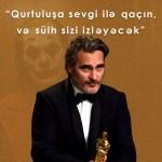 """Joaquin Phoenix-in """"Oskar"""" gecəsində çıxışı"""