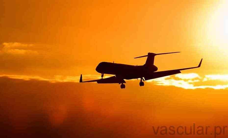 TVP no avião