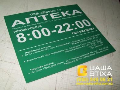Таблички, вказівники, будинкові, навігаційні та інші інформаційні знаки