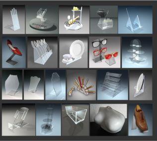 Заказать подставки под товары: телефоны, туфли, бижутерию и пр.