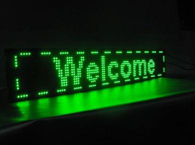 Рухомий LED рядок для реклами, вивісок, інформації