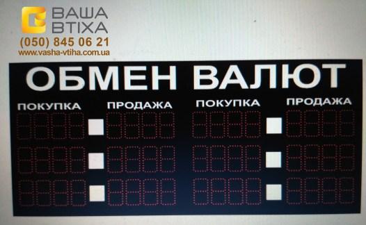 Заказать электронное табло обмена валют