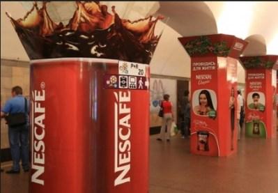 Заказать рекламные инсталляции Киев, необычные рекламные конструкции