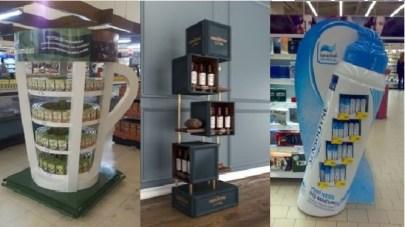 Рекламные стеллажи и брендированные стойки, заказать в Киеве