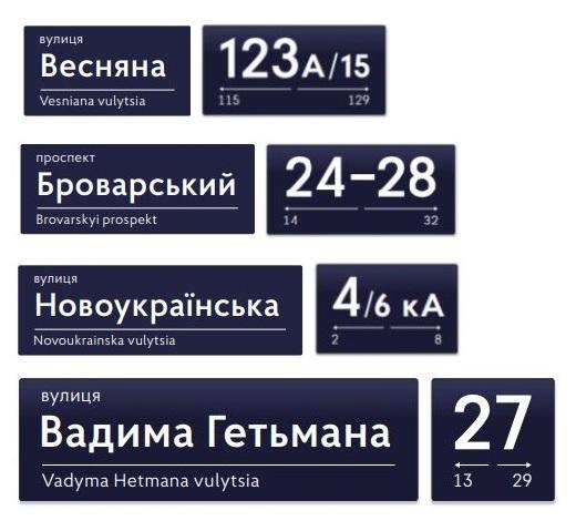 Заказать домовые знаки, адресные указатели Киев