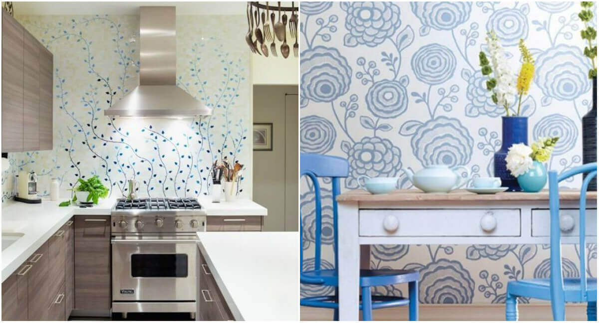 How To Choose Wallpaper For A Small Kitchen According To Current