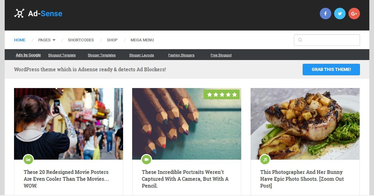 AdSense WordPress theme Review - Best Adsense optimized Wordpress theme