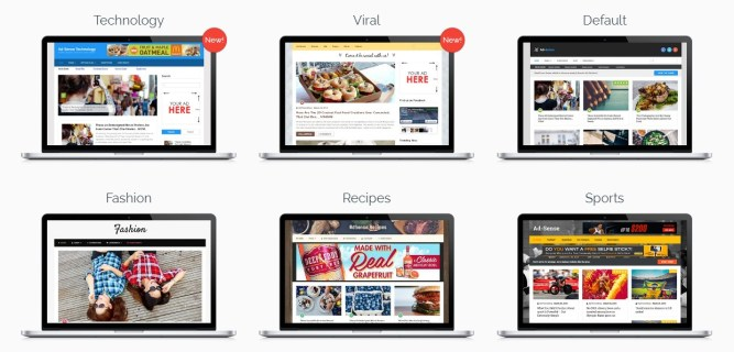 demo layouts adsense wordpress theme
