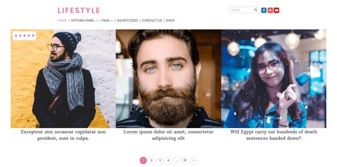 Lifestyle magazine theme
