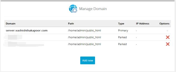 domains management interserver