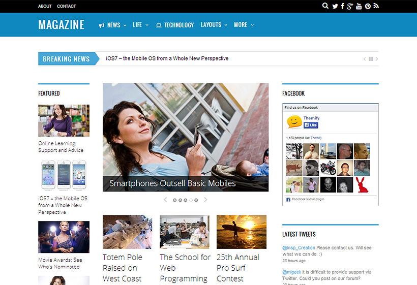 magazine theme adsense optimized