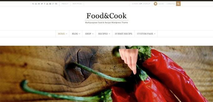food cook viral wordpress theme demo image