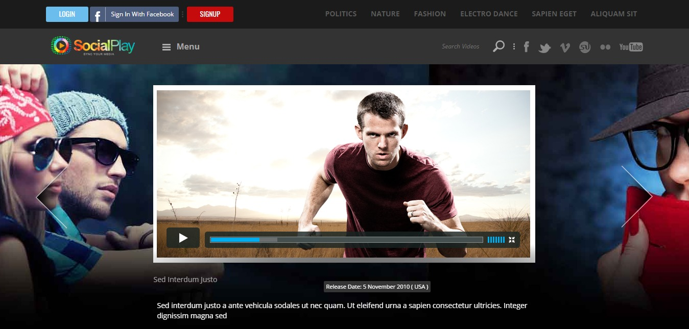 SocialPlay Video WordPress Theme