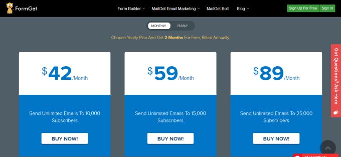 MailGet Bolt Email Marketing Service Software Send Bulk Emails Newsletter