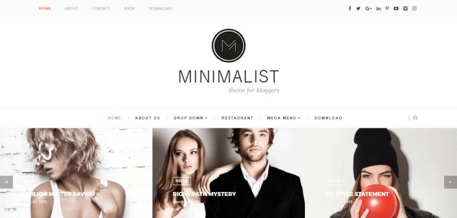 Minimalist blogger templates