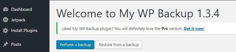 MyBackup take backup or restore