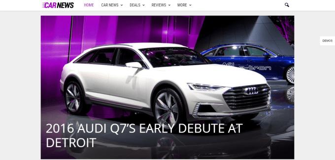 Newsmag Cars Demo