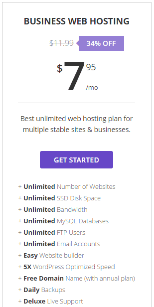 myplan my cheap hosting plan costs 7USD per month