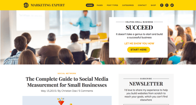 Expert Marketing Blog WordPress Theme