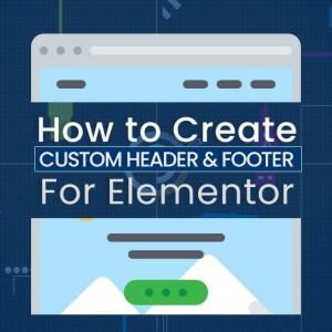 How to create custom header and footer