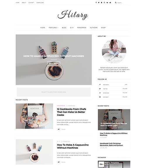 hilary-blogger-template