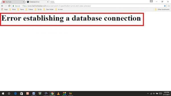 fix database connection error