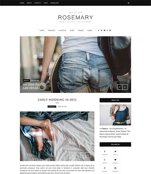 rosemary-blogger-template
