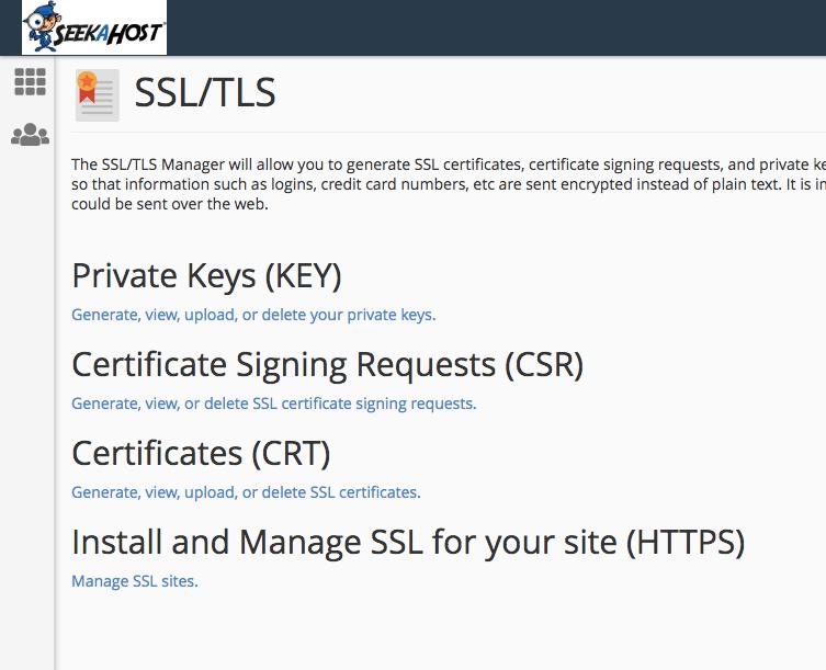SSL Settings in SeekaHost cPanel