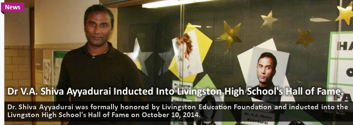 Dr. V.A. Shiva Ayyadurai The Inventor Of Email™ And Systems Scientist Induction Into Livingston High School Hall Of Fame, Livingston, NJ