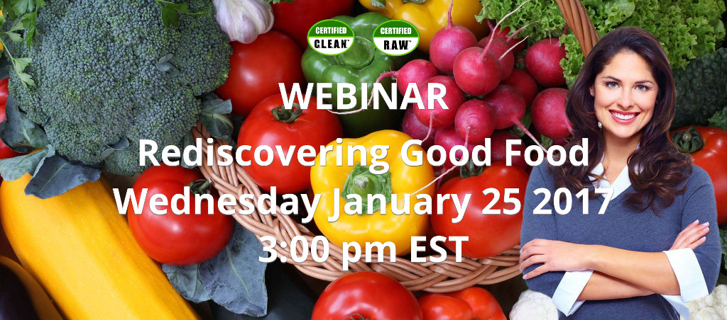 Webinar On Rediscovering Good Food By  Dr. V.A. Shiva Ayyadurai On January 25, 2017